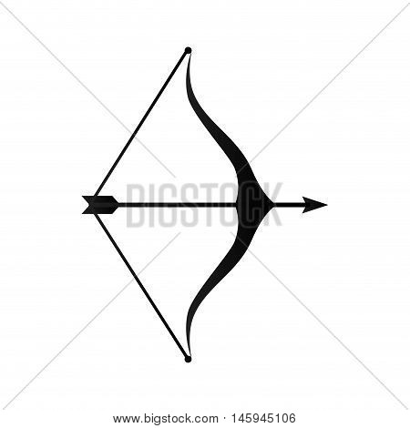 arrow bow  weapon sagittarius horoscope astrology symbol vector illustration