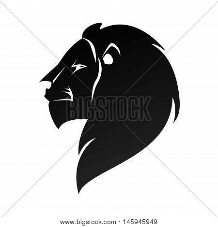 lion head profile wild animal leo zodiac sign vector illustration