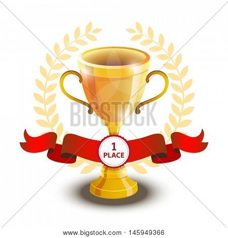 Soccer cup, football championship. Awards for any sporting event, biathlon, ice hockey, tennis, fighting. gold trophy - first place