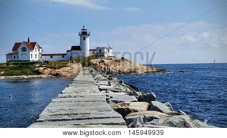 Gloucester lighthouse Eastern Point in United States