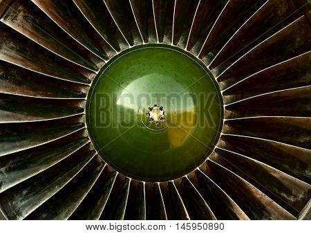 Old plane engine turbine