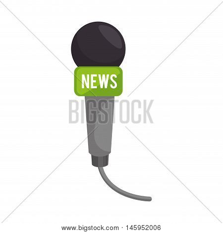 microphone mic audio communication news live journalist technology vector illustration