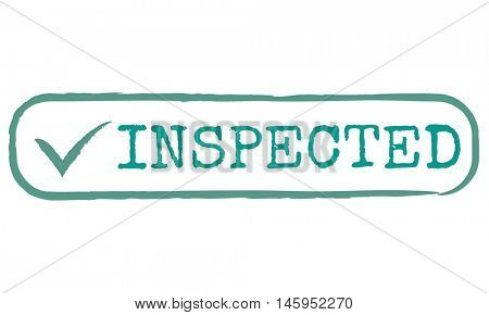 Inspected Allow Approve Authority Permit Graphic Concept
