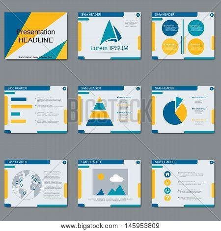 Professional business presentation abstract vector design template