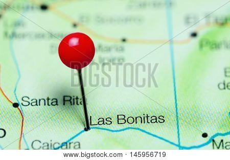 Las Bonitas pinned on a map of Venezuela