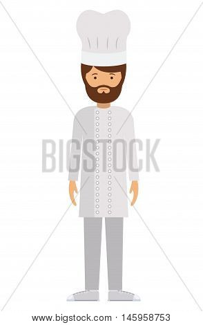 chef man and cartoon icon. profession worker and occupation theme. Isolated design. Vector illustration