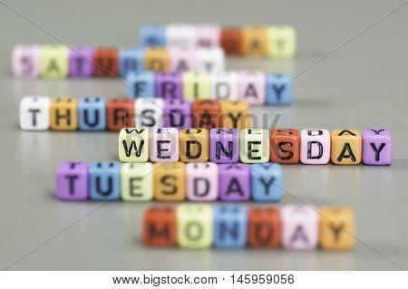Wednesday Text On Dice