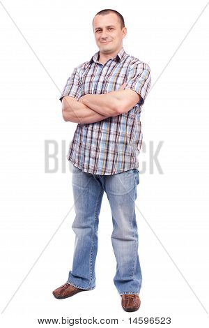 Casual Man Isolated On White