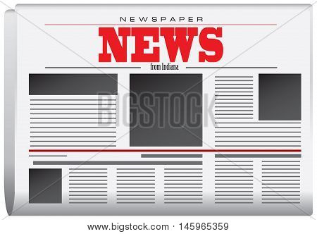Abstract Newspaper News from Indiana. Vector illustration.