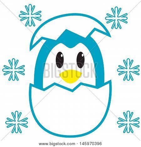 Egg penguin illustration vector art Tshirt design