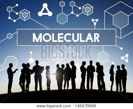 Molecular Atom Chromosome Genetic Lab Macro Concept