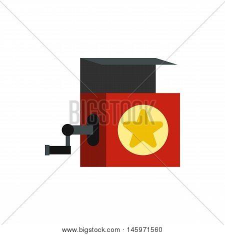 Music box icon in flat style isolated on white background. Musical instrument symbol vector illustration