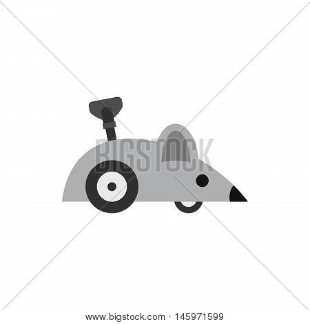 Clockwork mouse icon in flat style isolated on white background. Toy symbol vector illustration