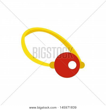 Clown nose icon in flat style isolated on white background. Joke symbol vector illustration