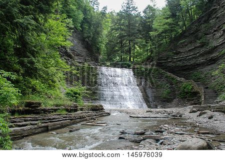 Stony Brook State Park Waterfall, New York, USA
