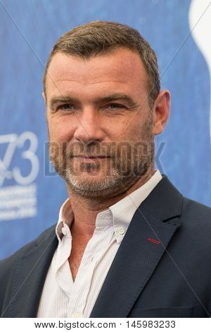 Liev Schreiber  at the photocall for The Bleeder at the 2016 Venice Film Festival. September 2, 2016  Venice, Italy