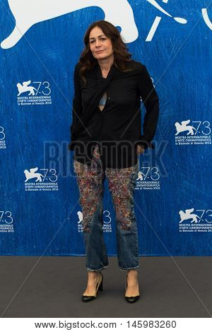 Sophie Semin  at the photocall for Les beaux jours d'aranjuez at the 2016 Venice Film Festival. September 1, 2016  Venice, Italy