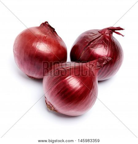 fresh shallot onion isolated on white background