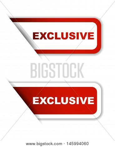 This is red vector paper sticker exclusive (two variant)