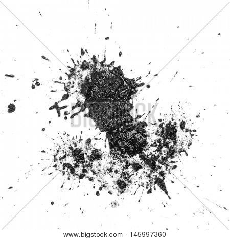 Texture land in white background