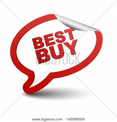 This is red vector element bubble best buy
