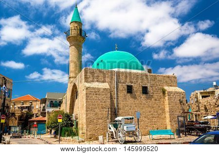 Sinan Basha Mosque in the old town of Acre, Israel