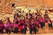 pic of dogon  - Dogon Warriors waiting for their part in the Mask Dance