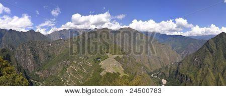 Ruins Of Machu Picchu From Huayna Picchu