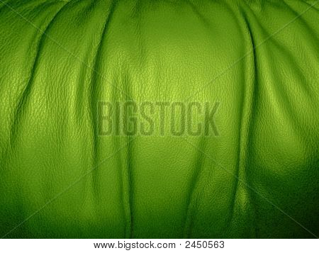 Background: Grass Green Leather
