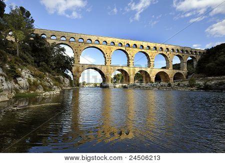 Roman Aquaduct Pont Du Gard, France