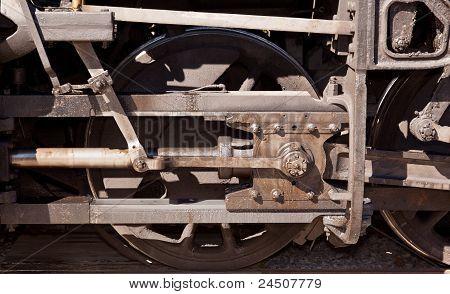 Close Up Of Train Wheel