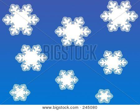 Copos de nieve blancas