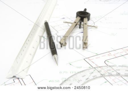 Drawing Tools With A Print Background