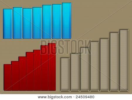 3 histograms showing lifting