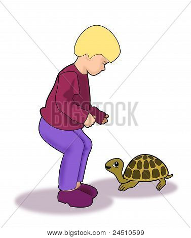 Child and Turtle