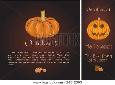 Banners of Halloween pumpkin