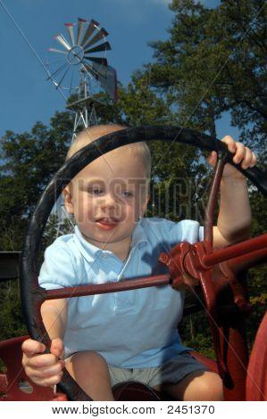 Borrowing Grampa'S Tractor