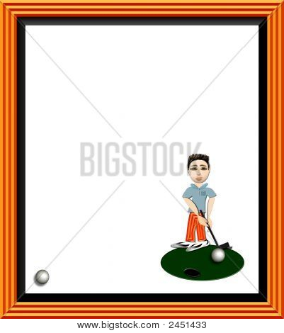 Cartoon Golfer Frame