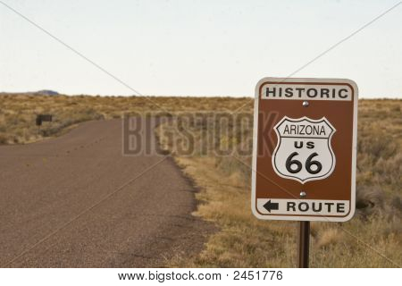 Historic Arizona Route 66 Sign