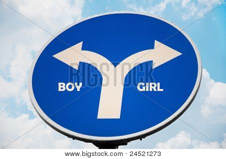 Boy and Girl sign