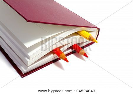 Book  And Penciles