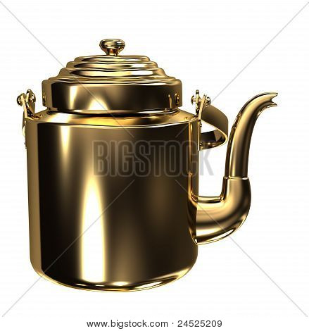Gold kettle