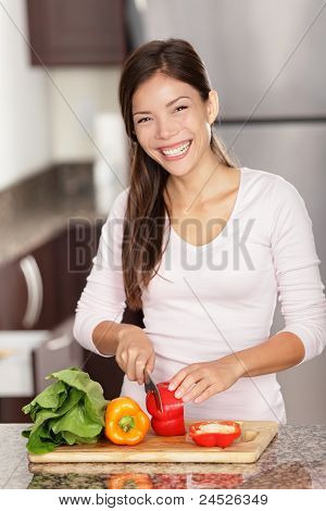 Making Salad Woman