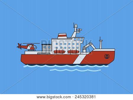 Icebreaker Ship In The Sea
