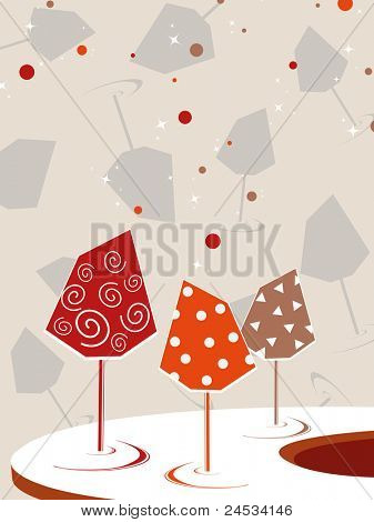 cocktail glass concept background, vector illustration