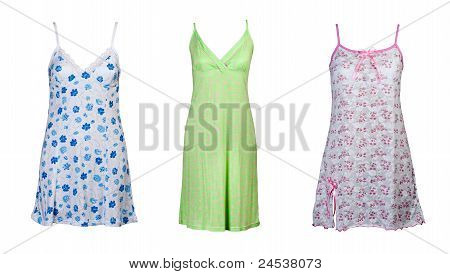 A Collage Of Three Women's Sleepwear
