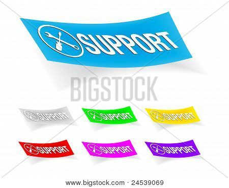 support,stickers