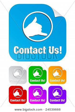 contact us,square shape stickers