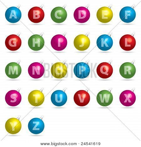 Bauble Alphabet