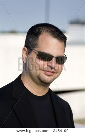Casual Man With Sunglasses